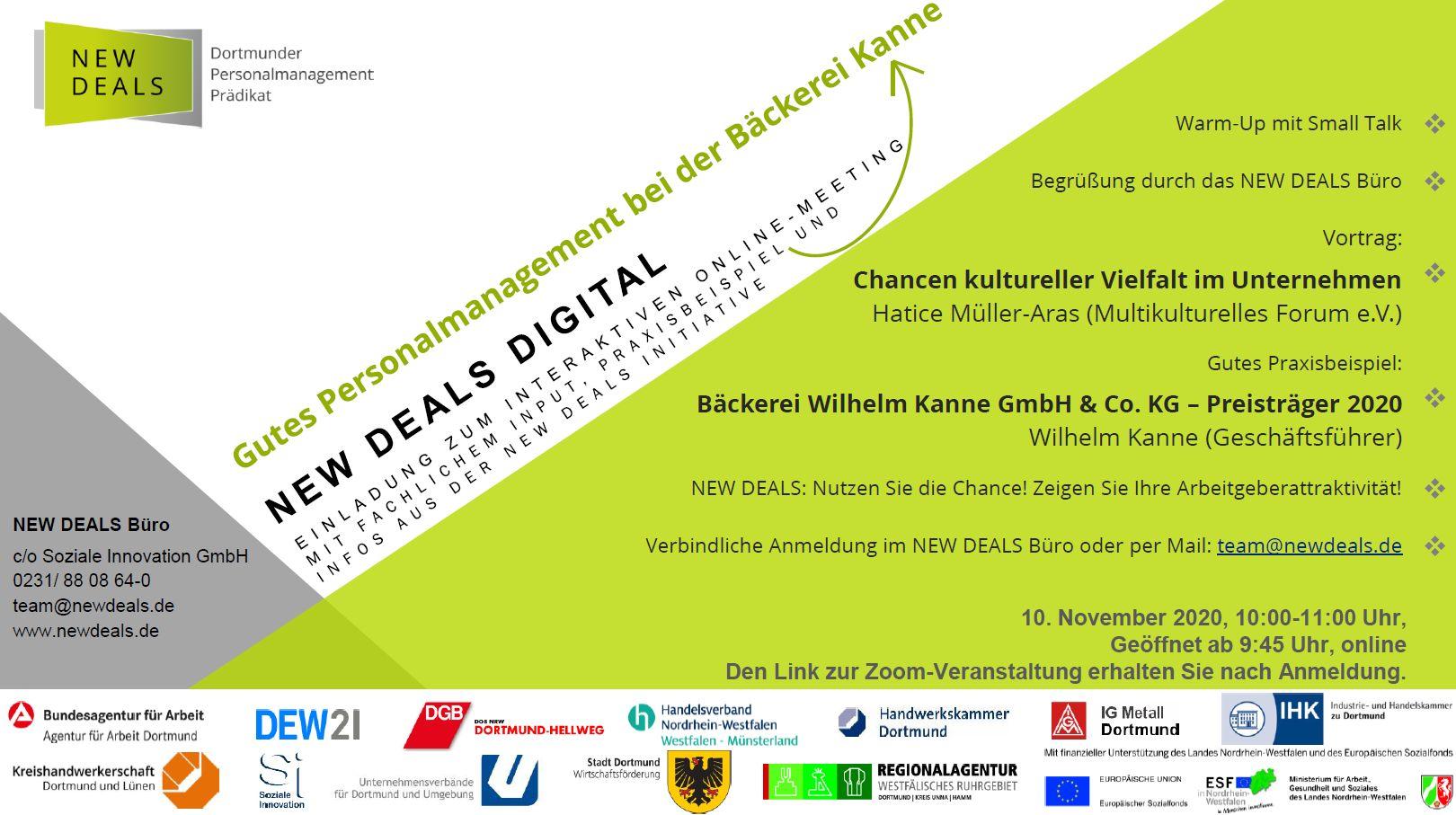 """Featured image for """"NEW DEALS digital: Vortrag und gutes Praxisbeispiel am 10.11.2020"""""""