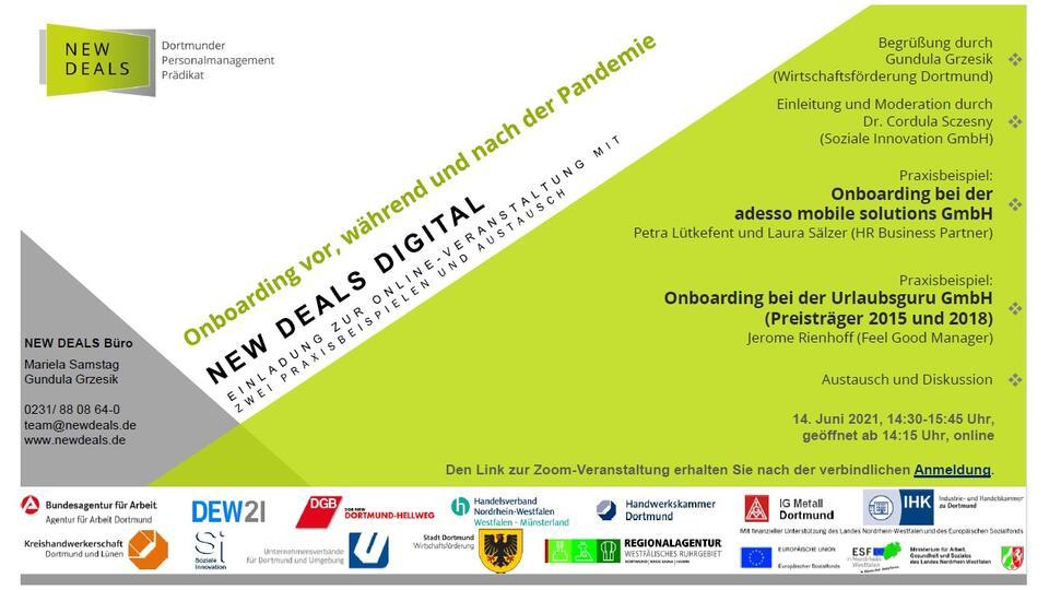 """Featured image for """"NEW DEALS digital am 14.06.2021 – mit adesso mobile solutions und Urlaubsguru"""""""